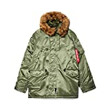 Alpha Industries Men's N-3B Parka (4XL, Sage)