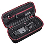 """Smatree Hard Carrying Case Compatible with DJI Osmo Pocket 2/Osmo Pocket, Extension Rod, OSMO Pocket Waterproof Case and… 8 Size: Small, Dimensions: 7.6"""" x3.5"""" x2.8"""" compact and easy to store in backpacks or carry-on luggage; recommend for traveling and home storage. Nice shaped compartments fit for osmo pocket, it can holds 1 x osmo pocket,4 x Neutral density filters,2 x SD Cards,2 x Smartphone Adapter(Refer to pictures). With comfortable hand strap for easy carrying. The hand strap can be easily attached to a belt or large bag."""