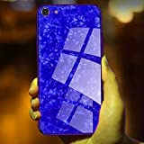 WAVECHOICE Marble Toughened Glass Back Case with Electroplating TPU Bumper Back Cover Case
