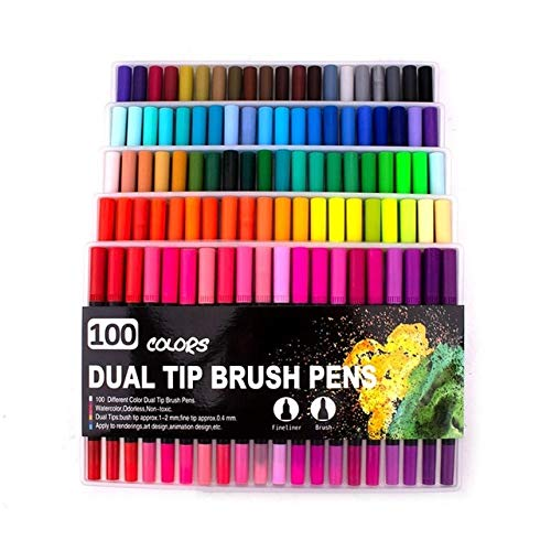 ●1 3 6 pcs Refillable Paint Brush Ink WaterColor Soft Brushes Calligraphy Refill