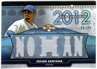 2012 Topps Triple Threads Flashback Relics #FR15 Johan Santana 2 Sided Game-Worn Jersey Card Serial #08/36 - Twins/Mets