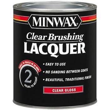 Minwax Brushing Lacquer 155000000, Quart, Clear
