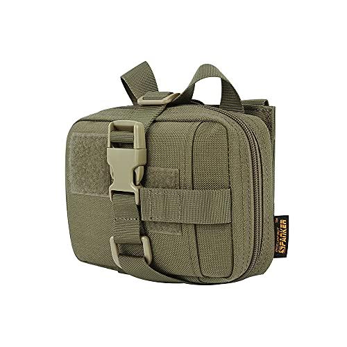 EXCELLENT ELITE SPANKER Tactical Molle Activity Edition Nylon-Notfallpaket Überleben Wandern Notfallausrüstung(Olivgrün)