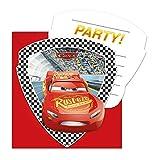 Folat 87802 Cars 3 Lot de 6 invitations Multicolore