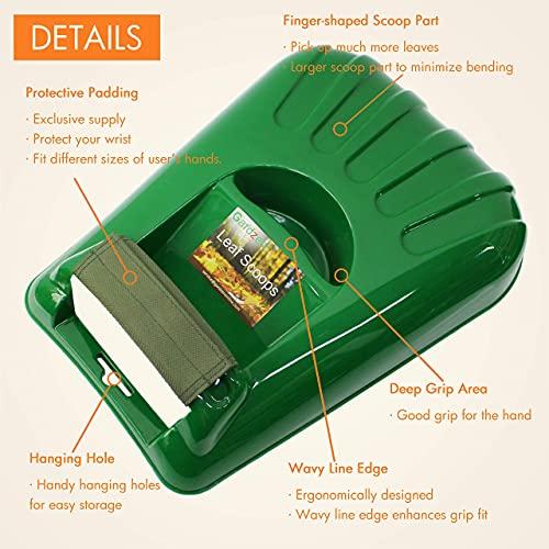Gardzen 12 Tines Gardening Leaf Rake Set, Comes with 72 Gallon Garden Bag
