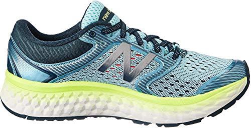 New Balance Women's Fresh Foam 1080 V7 Running Shoe, Ozone Blue Glow/Lime Glow, 7 2A US