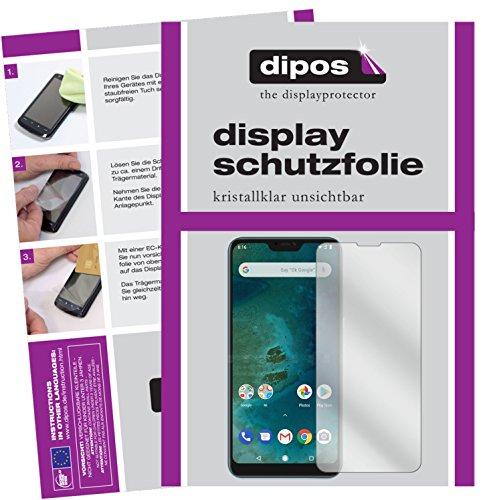 dipos I 6X Schutzfolie klar kompatibel mit Xiaomi Mi A2 Lite Folie Bildschirmschutzfolie