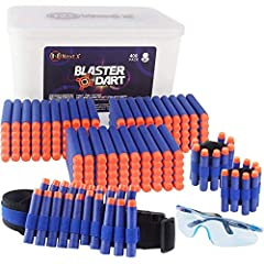 Bullets Refill for Nerf N-Strike :NextX 400 Darts Premium Materials,carefully selected ABS,Not poisonous or toxic,no odor, no burrs that will not hurt your hands. Roundhead design nerf bullets The safe and non-slip handle with clear texture Toy Foam...