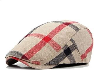 Unisex Classic Plaid Berets Caps for Men Casual Cotton Flat Cap Women Newsboys Gatsby Casquette Gorras Peaked Cap Cabbie Hats