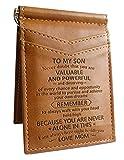 Erinnerungsgeschenk – Geldbörse für Sohn von Mutter, Sohn, Mutter zu Sohn, zu meinem Sohn, Geburtstagsgeschenk, Kartenhalter, Vatertag, Muttertag, Weihnachten, Weihnachten