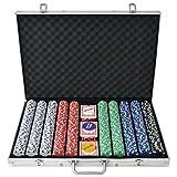 Festnight 1000 Pieces Poker Chip Set for Poker Game