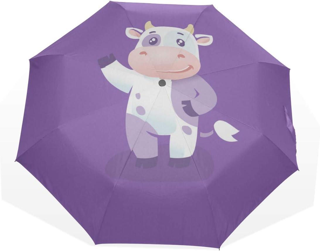 Folding Beach Umbrella Happy Little Milk Cow Max 45% OFF Farm National products 3 Animal Fold