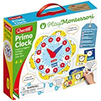 Quercetti Play Montessori Primo Teaching Clock Educational Toy