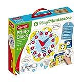 Quercetti - 0624 Play Montessori Primo Clock, imparare l'ora , orologio per bambini...