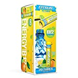Zipfizz Healthy Energy Drink Mix, Hydration with B12 and Multi Vitamins, Citrus, 20 Count - 2 Pack