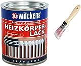 Heizkörperlack weiss inkl. Pinsel zum Auftragen von E-Com24 (Heizkörperlack weiss 375 ml)