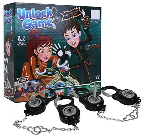 HUKITECH NEU! Break Free Unlock Game - Tolles Geschicklichkeitsspiel Familienspiel Feuerwehr Polizei Prisoner Aktionsspiel Partyspiel Gesellschaftsspiel Handschellen Spiel