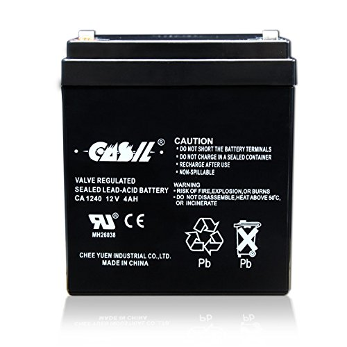 CASIL CA-1240 12V 4AH Solex BD124 Alarm Back Up DSC Security Panel Replace