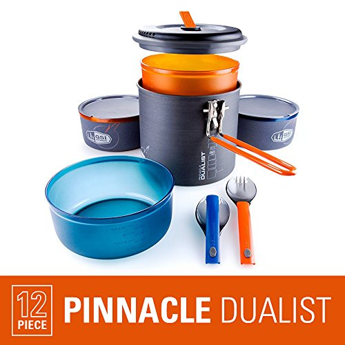 Photo of a orange and gray Pinnacle Dualist II Camping Cook Set