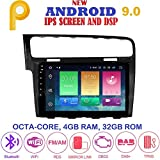 ANDROID 9.0 FULL-TOUCH 10.1 pollici 4GB-RAM 32GB ROM GPS USB WI-FI Bluetooth MirrorLink autoradio navigatore compatibile con Golf 7 2013-2018 Volkswagen