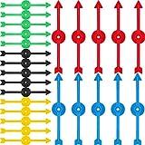 4 Pulgadas de Flecha de Spinner de Juego de Plástico en 5 Colores para Escuela, Spinner de Juego de Tablero (25 Piezas)
