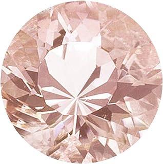 Mysticdrop 4.50-5.00 Cts of 11 mm AAA Round Cut Morganite (1 pc) Loose Gemstone