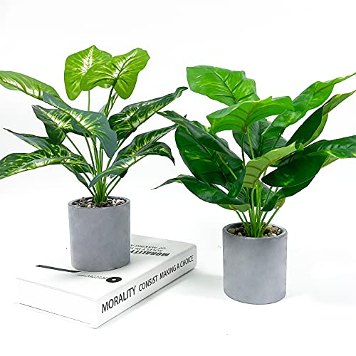 WXBOOM 2pcs 16' Small Fake Plants Artificial Potted Greenery Plants for Bathroom...