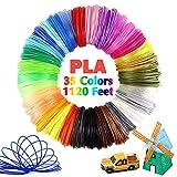 Pomatoy 3D Pen PLA Filament 35 Colors, 1.75mm Filament Used for 3D Pens, Each Color 32 Feet, Total 1120 Feet