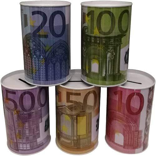 CABLEPELADO Hucha diseño de billete de Euros (20 cm)