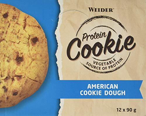 Weider Protein Cookie, All American Cookie Dough, Delicious on the go snack, 12 pack