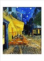 ポスター ゴッホ 『夜のカフェテラス』 A4サイズ 白縁有【返金保証有 日本製 上質】 [インテリア 壁紙用] 絵画 アート 壁紙ポスター