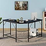ModernLuxe Escritorio de escritorio de oficina en forma de L de madera para ordenador de mesa de trabajo de ordenador de mesa grande para juegos de PC, mesa de oficina para el hogar