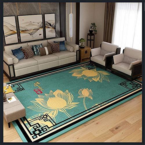 alfombras recibidor Antideslizante, Resistente a Las Manchas, Gris, Amarillo, diseño Floral Negro, Alfombra Resistente a la decoloración Alfombra pasillera decoración para Dormitorio de bebé 60*160CM