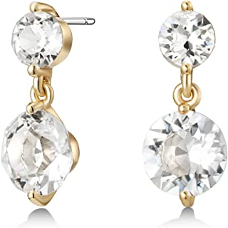 Mestige Women Glass Gold Natalie Earrings with Swarovski Crystals