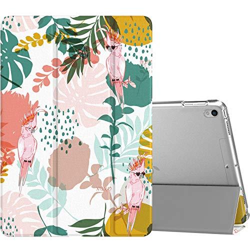 MoKo Compatible con New iPad Air (3rd Generation) 10.5' 2019/iPad Pro 10.5 2017 Funda, Delgado y Ligero Protector con Magnética Función de Cargar/Par y Auto Sueño/Estela - Loro arbol
