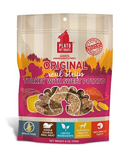Plato Original Real Strips Turkey & Sweet Potato 6oz, Natural (850002221428)