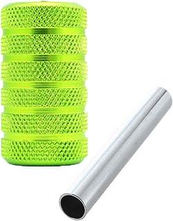 ZRNG 2 stks Groen 25mm Aluminiumlegering Grips Tattoo Machine Grip Handvat Grip voor Guns Tube Tattoo Needle Gun Kit