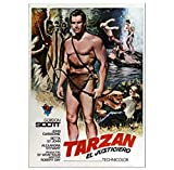 MGSHN Tarzan Poster Vintage Filmplakat HD Bild Leinwand