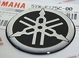 100% GENUINE 45mm Diamètre YAMAHA TUNING FOURCHE Autocollant Emblème Logo noir /...