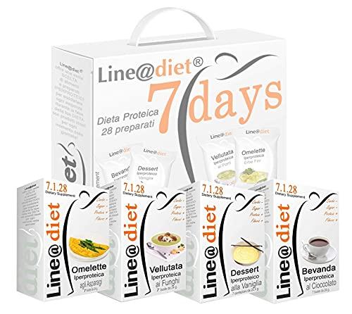 """DIETA PROTEICA Line@Diet! Alimenti Proteici in BAG COMPLETO per 7 Giorni: Opzione MISTO C = 28 preparati PROTEICI (buste proteiche) senza Carboidrati e senza Zuccheri, una dieta per """"PERDERE PESO"""" i pochi giorni, senza sentire la FAME! Una settimana completa di colazione, spuntino, pranzo e cena ... brucia grassi e TORNI SUBITO in FORMA!"""