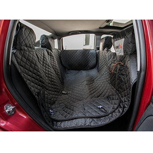 Hobbydog 220 ZBOCZA1 Hundedecke, Autoschutzdecke, Verschiedene Größen und Farben, 140 x 220 cm, XL, schwarz mit Seitenschutz