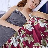 Gewichtsdecke mit Bettbezug,6.8kg Weighted Blankets für das Körpergewicht 49-63kg für Kinder Autismus Schlaflosigkeit Angst Adhs-Linderung,152x203cm,Lila