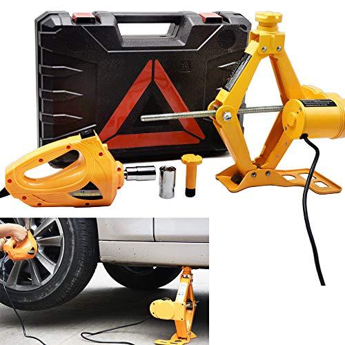 OTQEALY 12V-krik, 12 V gelijkstroom-krik, 3-ton krik voor elektrische auto's, draagbare krik, krik kit, werkplaatswagen-gereedschap 3 jaar.