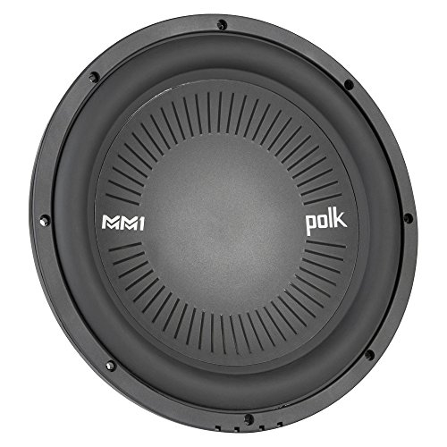 "Polk Audio MM1042SVC, MM 10"" Single 4 Ohm Voice Coil Car, Marine, ATV Subwoofer"