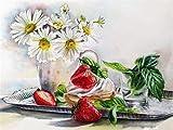 Pintura de diamante flor Margarita imagen de diamantes de imitación mosaico bordado con cuentas pintura cristal artesanía decoración A5 45x60cm