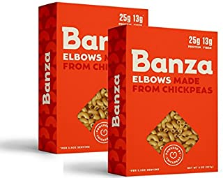 Banza Chickpea Pasta, Elbows, 8 Ounces (Pack of 2)