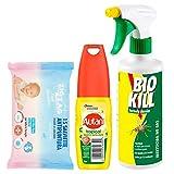 BIOKILL Set insetticida insetticida Ecologico bio Kill antiparassitario No Gas 500 ml, Autan Tropical Vapo Repellente - 100 ml