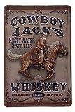 Blechschild Cowboy Whiskey - Western Deko Schild - Vintage