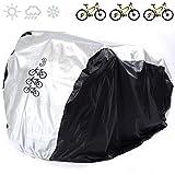 Universal Bike Housse trois vélos 190T Nylon étanche portable légères pour stockage extérieur et intérieur, anti-poussière, protection pluie et UV