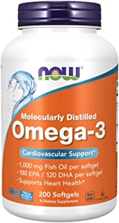 Now Foods OMEGA-3 FISH OIL 200 Softgels